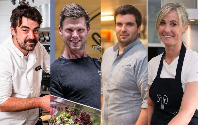 Van links naar rechts: Rembert Van Der Straeten, Timo Berth, Marcus Verret en Violetta Clery.