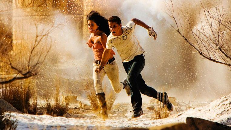 Megan Fox en Shia LaBeouf in Transformers: Revenge of the Fallen van Michael Bay. Beeld