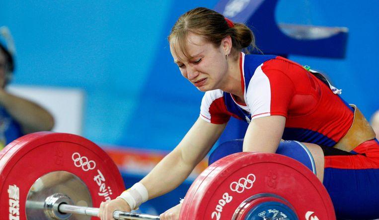 De Russische Marina Shainova tijdens de Spelen in Peking. Beeld anp