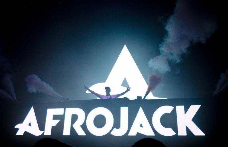 DJ Afrojack treedt op in de Ziggodome tijdens het Amsterdam Dance Event (ADE). Beeld anp
