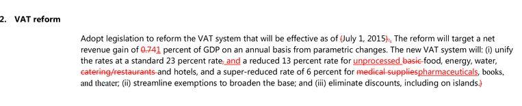 Wijzigingen in het voorstel voor de btw-hervorming (klik op het foto-icoontje voor een grotere versie). Beeld rv