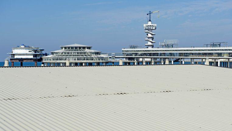 De Pier op het Scheveningse strand. Beeld anp