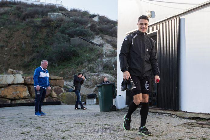 Joey Pelupessy vorige week tijdens het trainingskamp in Spanje.