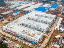 Zo stampte China binnen tien dagen een compleet nieuw ziekenhuis uit de grond