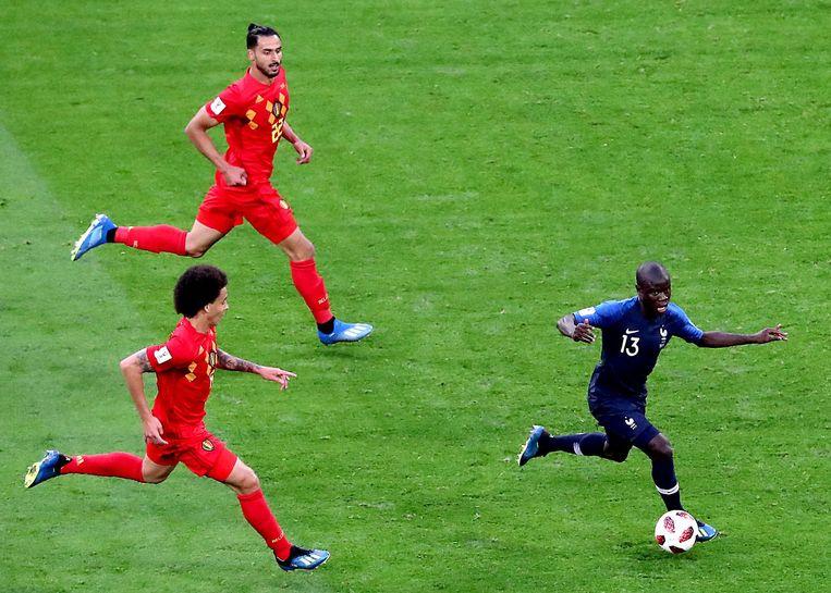 NGolo Kanté in actie tijdens het WK Beeld ANP