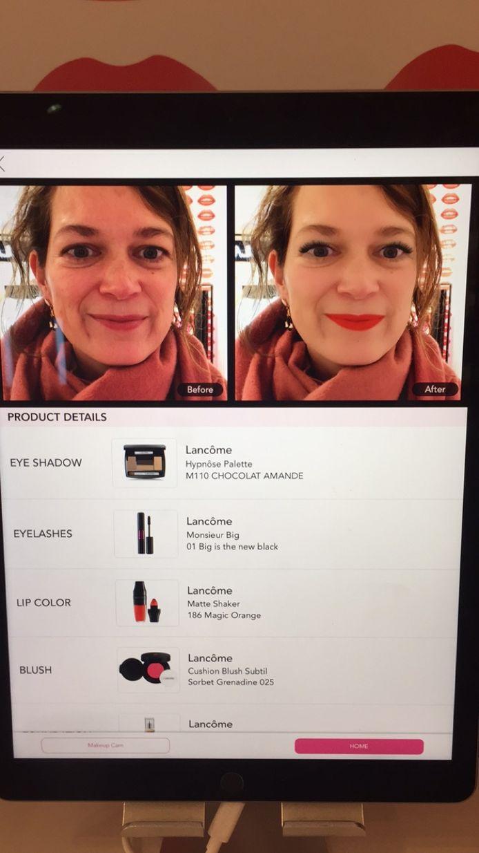 Beauty editor Eva probeert de virtuele make-over