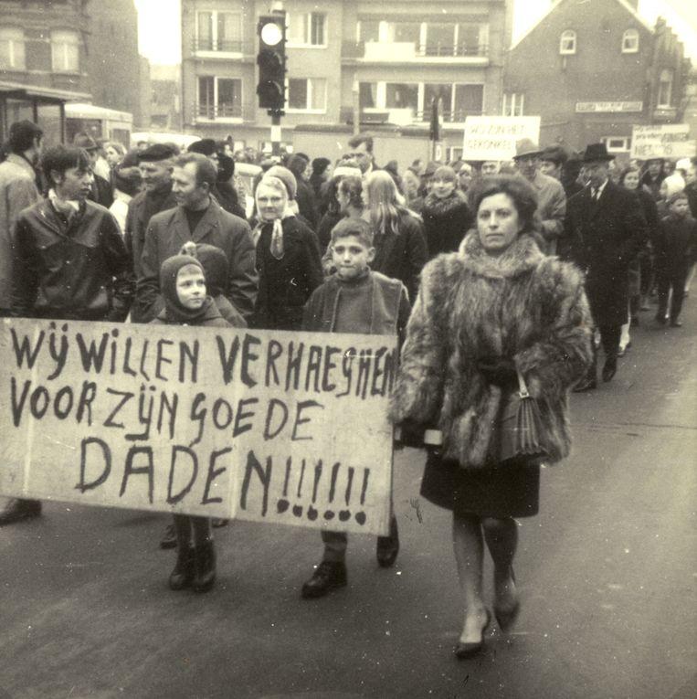 De strijd om pastoor Gilbert Verghaeghen bracht een massa volk op de baan tijdens betogingen.
