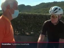 """Scène cocasse au JT de France 2: Chris Froome confondu avec """"un randonneur à vélo"""""""