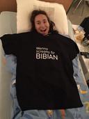 Menno verraste Bibian met een XXL-shirt in het ziekenhuis.