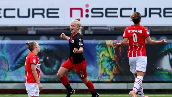 Vrouwen PSV laten met doelpuntrijk gelijkspel dure punten liggen bij Excelsior