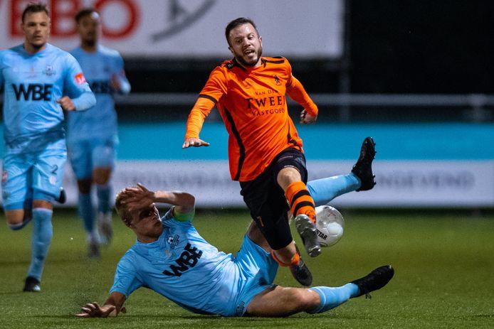 Bryan Burgerhout bezorgde Sparta Nijkerk de volle buit tegen Stedoco.