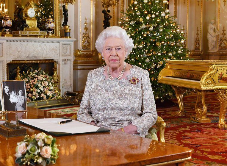 De kerstspeech van Queen Elizabeth II  werd al op 12 december opgenomen in Buckingham Palace.