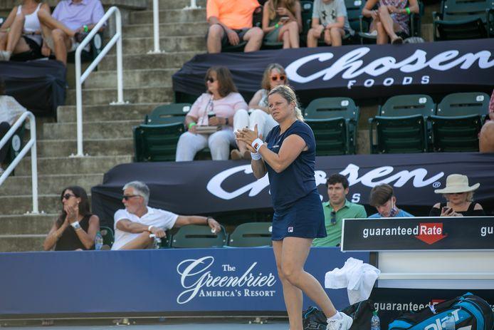 Kim Clijsters op het World Team Tennis-toernooi in de VS.