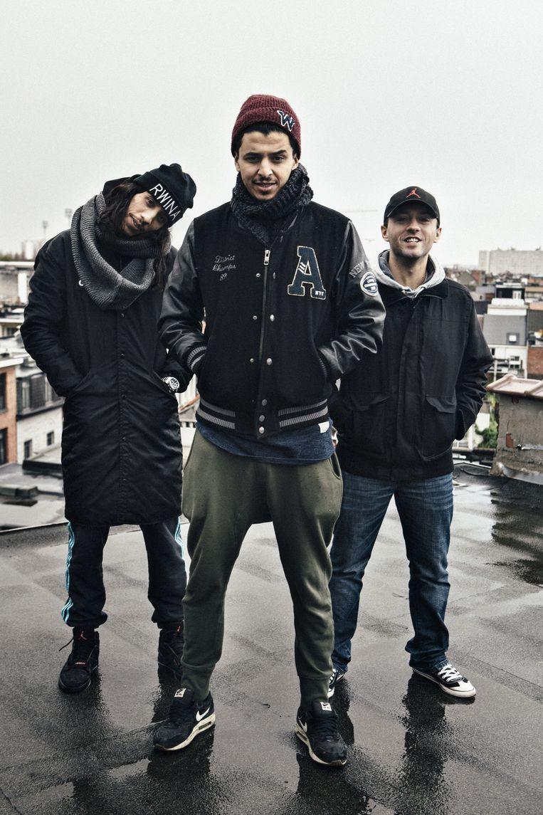 Hiphopcollectief NoMoBS: Saïd Boumazoughe, Salahdine Ibnou Kacemi en Mike De Rudder