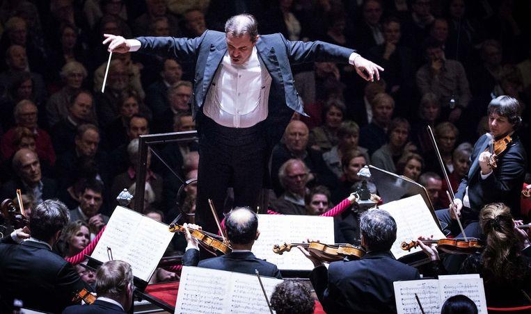 Daniele Getti aan het werk in het Concertgebouw. Beeld Robin Utrecht