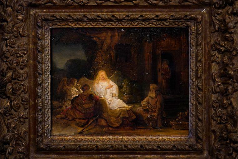 'Abraham en de Engelen' van Rembrandt van Rijn. Beeld AP