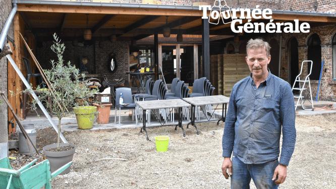 """Café De Macote heeft achteraan een overdekt zonneterras in het teken van western: """"We mikken op fietstoerisme en families met kinderen"""""""