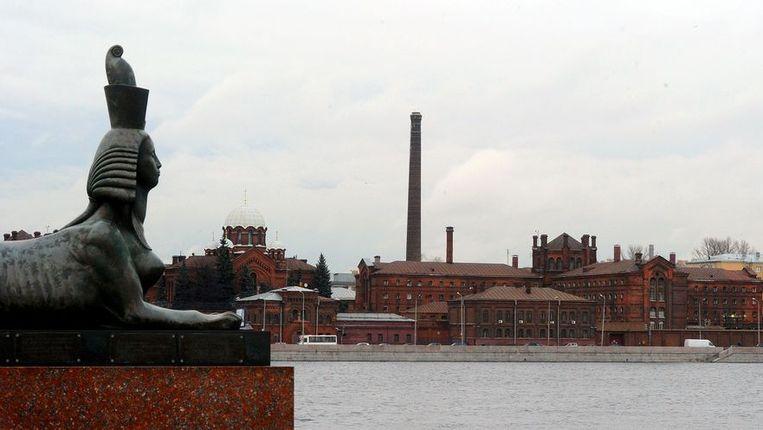 De beruchte Kresty-gevangenis in Sint-Petersburg, aan de oever van de Neva. Beeld afp