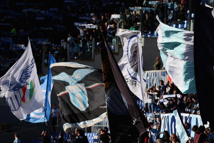 Fans van Lazio Roma op archiefbeeld.