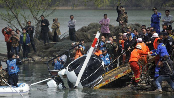Het helicopterongeluk bij Hefei