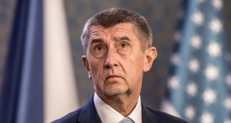 De Tsjechische  minister-president Andrej Babiš. Beeld