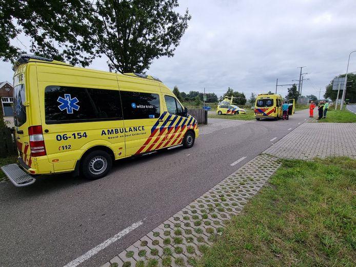 Een vrouw is in Lichtenvoorde ten val gekomen en ernstig gewond geraakt.