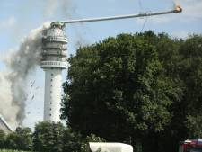 Twee zendmasten in brand, groot deel Nederland zonder ontvangst