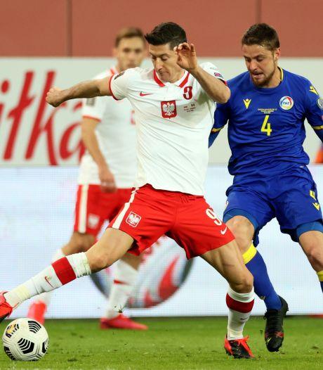 Lewandowski mist duel met Engeland door knieblessure