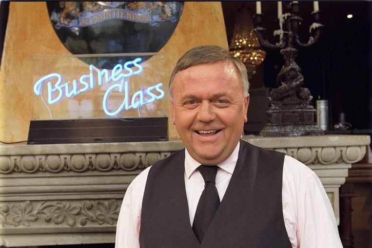Harry Mens in de studio van Business Class Beeld ANP