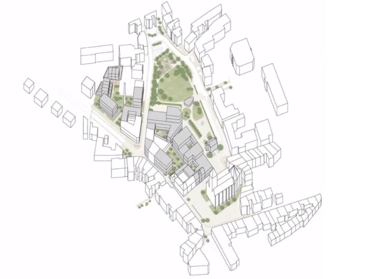 Als het masterplan zoals het voorligt gerealiseerd wordt, zal het huidige groene parkgebied uitgebreid worden met groene (dak)tuinen.