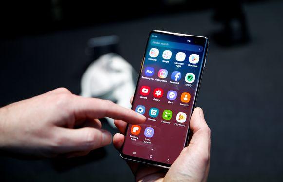 De Samsung Galaxy S10.