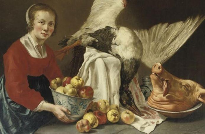 Schilderij 'Een keuken' van Willem van Odekerken uit 1677.