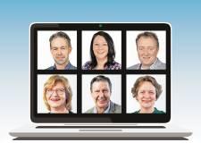 Gemeenteraad en inspreken in Overbetuwe digitaal, raadsleden en insprekers thuis achter het beeldscherm