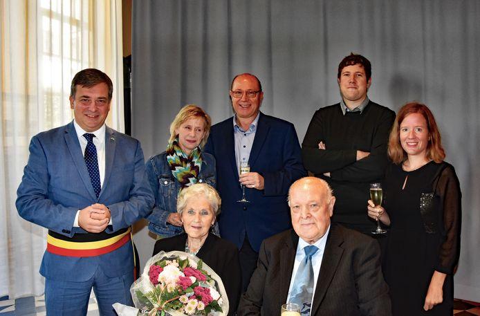 Walther Decoker en Maria Deceuninck vierden hun 60e huwelijksverjaardag.