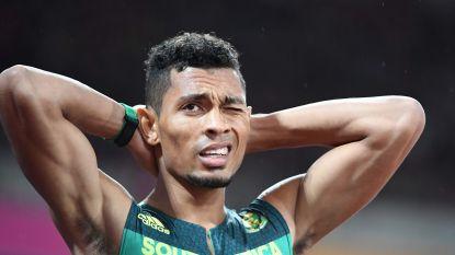 Wayde van Niekerk, wereldrecordhouder op 400m, test positief op corona