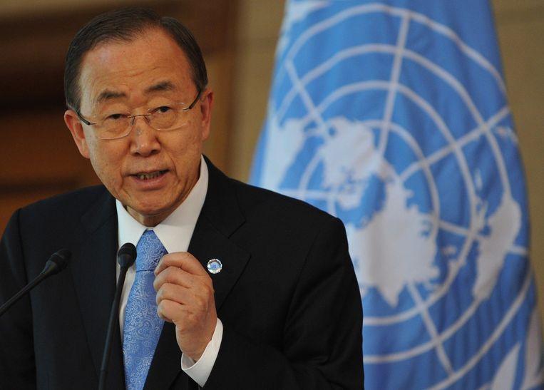 VN-secretaris-generaal Ban Ki-moon Beeld ANP
