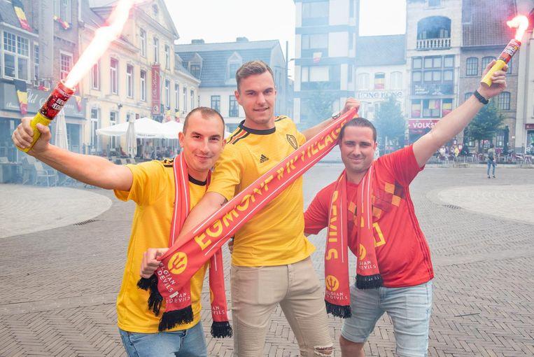 Pieter , Lennart en Tom brengen sfeer op de Markt.
