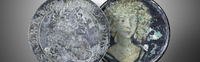Een hobby-archeoloog vond afgelopen maand een schroefmedaillon uit de tijd van de Habsburgers, waarin driehonderd jaar lang een olieverfportretje met de afbeelding van een vrouw lag verborgen.