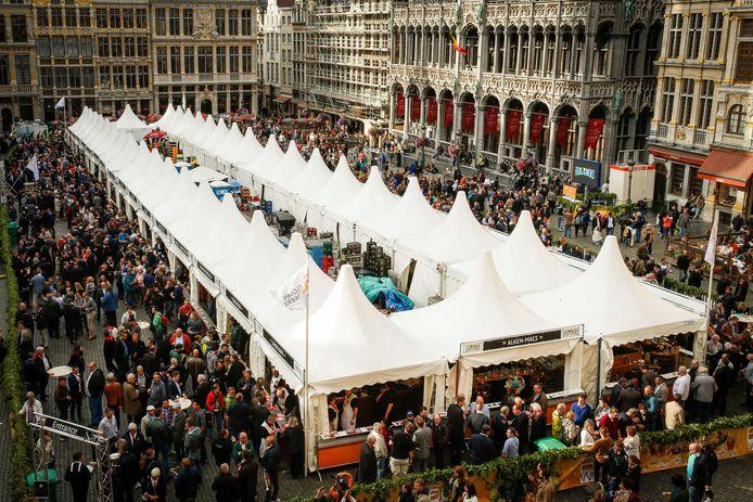 La 17e édition du Belgian Beer Weekend, en 2015, sur la Grand-Place de Bruxelles