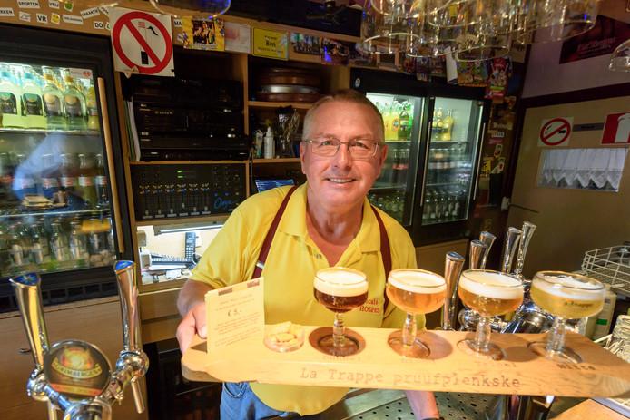 Bennie van Hooff met het La Trappe Pruufplenkske.