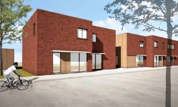Een simulatie van de nieuwe woningen aan de Diswegel en Kwarteldreef.