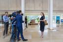Minister Carola Schouten (Landbouw, Natuur en Voedselkwaliteit) staat de pers te woord op het ministerie.