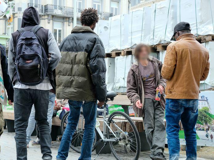 Openbare dronkenschap leidt in sommige centrumwijken tot veel overlast.