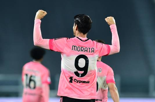 Álvaro Morata zag kort voor rust een goal afgekeurd worden wegens buitenspel.