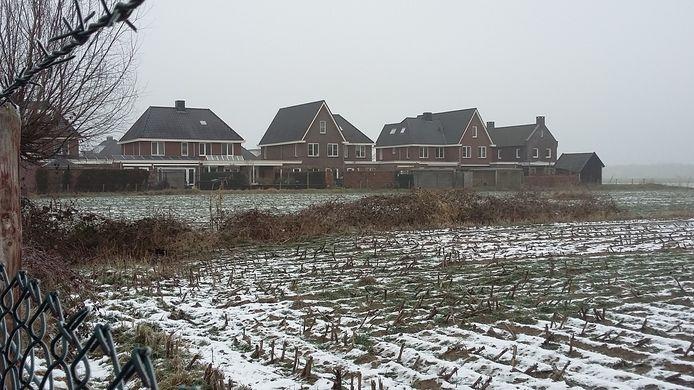 De locatie aan de Kerkuilhage in Berlicum waar de units gepland zijn.