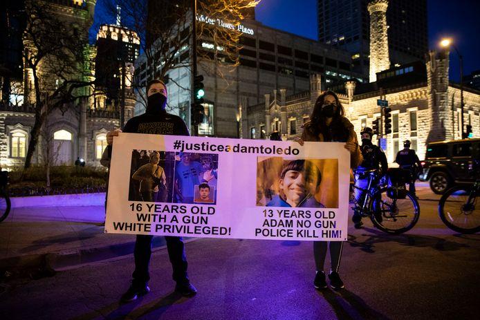 Manifestants à Chicago