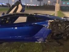 Une Lamborghini accidentée à 400.000 euros abandonnée sur le bord de la route