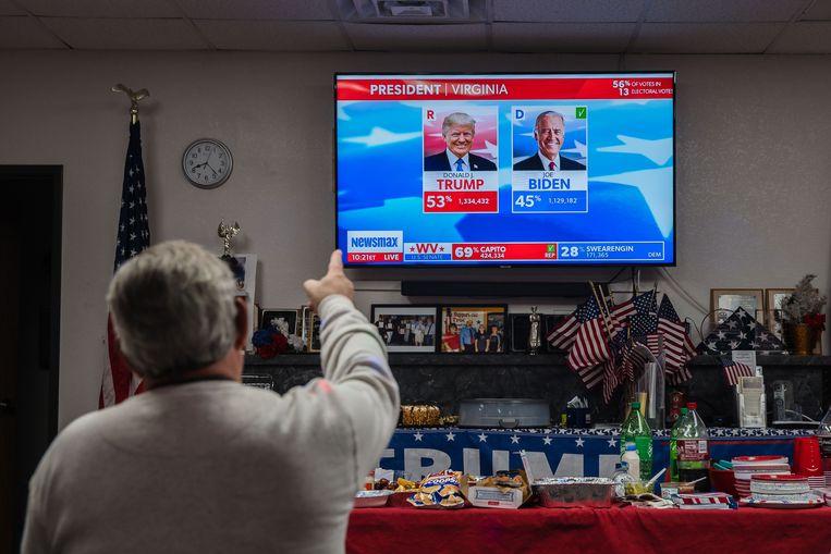 Wachten op de verkiezingsuitslag in Sierra Vista, Arizona. Beeld AFP