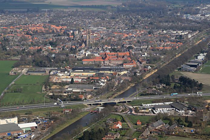 De A58-brug over het Wilhelminakanaal in Oirschot wordt vanaf 2020 verbreed aan de zuidzijde.