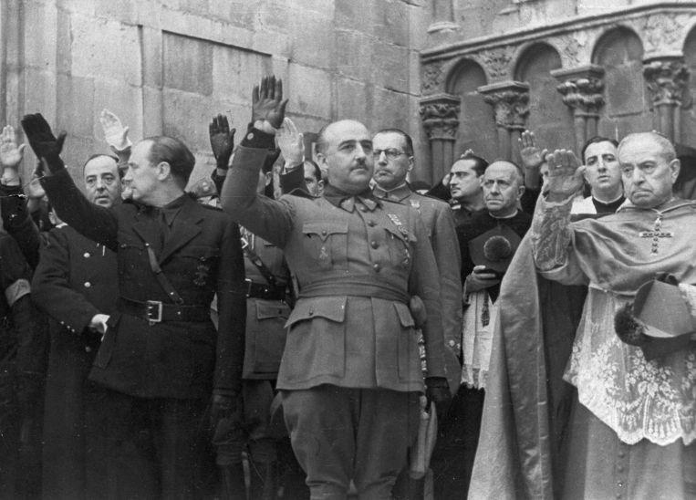 De vroegere Spaanse dictator Francisco Franco in 1938.  Beeld AP